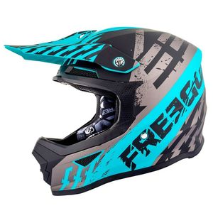 Casque cross XP4 - OUTLAW - GREY FRESH BLUE MATT 2019 Grey Fresh Blue Matt