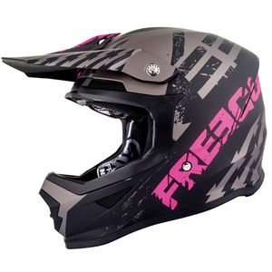 Casque cross XP4 - OUTLAW - GREY NEON PINK MATT 2019 Grey Neon Pink Matt
