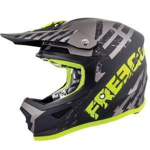Casque cross XP4 - OUTLAW - GREY NEON YELLOW MATT 2019 Grey Neon Yellow Matt