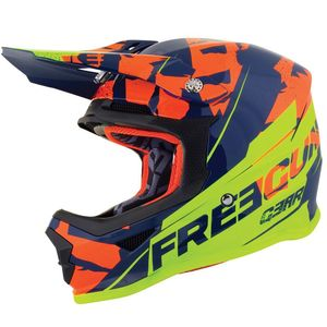 Casque cross XP4 KID - HERO - BLUE NEON YELLOW GLOSSY  Blue Neon Yellow Glossy