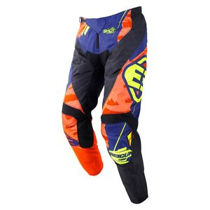 Pantalon cross DEVO KID - HERO - BLUE NEON YELLOW  Blue Neon Yellow