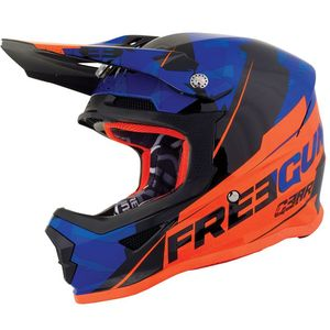 Casque cross XP4 KID - HERO - BLUE NEON ORANGE GLOSSY  Blue Neon Orange