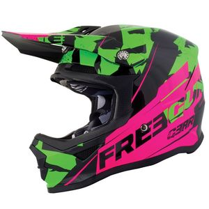 Casque cross XP4 KID - HERO - GREEN NEON PINK GLOSSY  Green Neon Pink Glossy