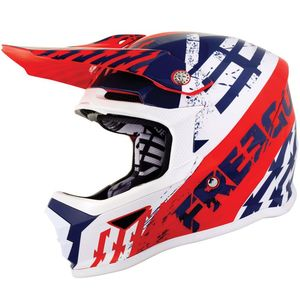 Casque cross XP4 KID - OUTLAW - BLUE RED GLOSSY  Blue Red