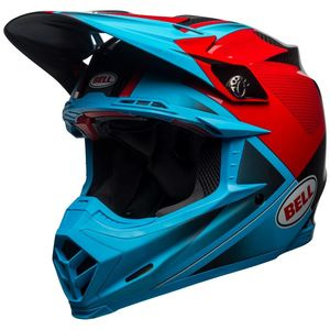 Casque cross MOTO-9 CARBON FLEX BLEU/ROUGE 2019 Bleu/Rouge