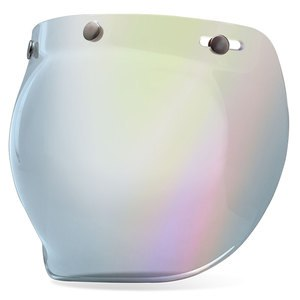 Ecran casque BUBBLE - CUSTOM 500  Iridium Argent