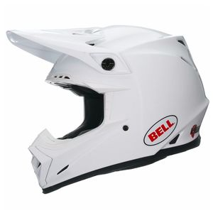 Casque Cross Bell Moto-9 Carbon Flex - Solid Blanc - 2018