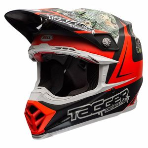 Casque cross MOTO-9 CARBON FLEX - TAGGER REKLUSE - 2017 Rouge/Vert/Noir