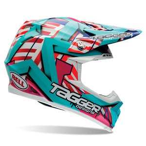 Casque cross MOTO-9 - TAGGER TROUBLE - 2017 Multicolore