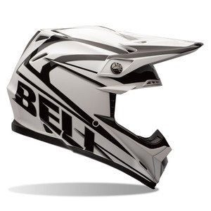 Casque cross MOTO-9 - TRACKER BLACK 2017 Blanc/Noir