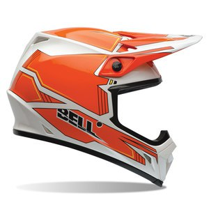 Casque cross MX-9 - BLOCKADE ORANGE 2017 Orange/Blanc