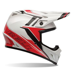 Casque cross MX-9 - BARRICADE RED 2017 Rouge/Blanc