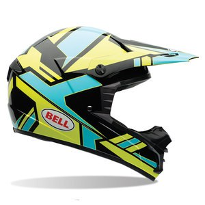 Casque Cross Bell Destockage Sx-1 - Stack Blue 2017