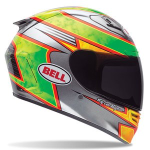 Casque STAR CARBON - FILMORE REPLICA  Vert/Rouge