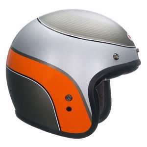 Casque CUSTOM 500 - AIRTRIX DELINQUENT  Gris/Orange