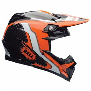 Casque Cross Bell Destockage Moto-9 Carbon Flex - Factory Orange Noir - 2017