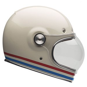 Casque Bell Bullitt - Stripes Pearl White