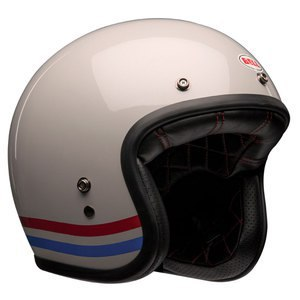 Casque Bell Custom 500 - Stripes Pearl White