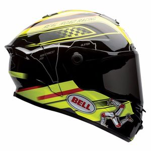 Casque STAR - ISLE OF MAN  Noir/Jaune