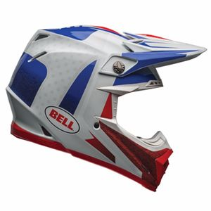 Casque cross MOTO-9 CARBON FLEX - VICE BLEU ROUGE - 2018 Bleu/Rouge