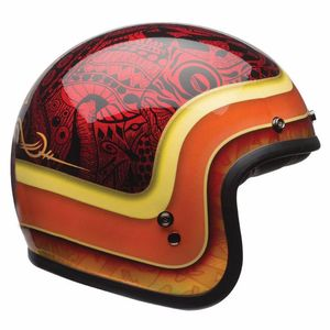 Casque CUSTOM 500 - HART LUCK  Rouge/Jaune