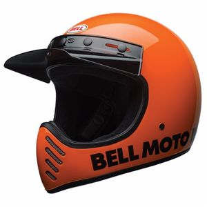 Casque MOTO-3 - CLASSIC  Orange