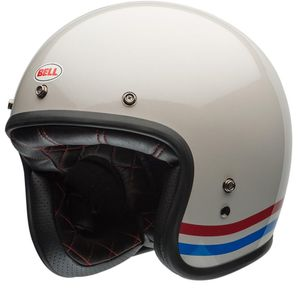 Casque CUSTOM 500 DLX - STRIPES PEARL WHITE  Créme