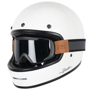 Casque MARTY GLOSSY AND BINOCLE PACK  White Glossy
