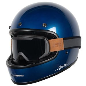 Casque MARTY GLOSSY AND BINOCLE PACK  Blue Glossy