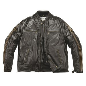 Blouson ACE  BIG BODY - cuir RAG marron  Marron