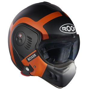 Casque RO5 BOXER V8 BOND  Noir/Orange mat