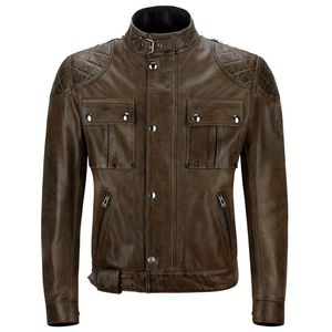 Blouson BROOKLANDS CUIR  Black/Brown