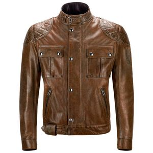 Blouson BROOKLANDS CUIR  Burnt