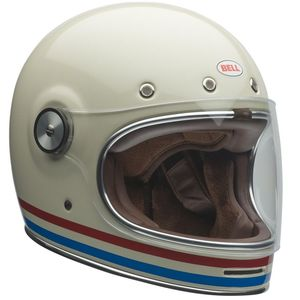 Casque BULLITT DLX - STRIPES PEARL WHITE  Blanc