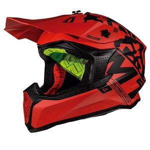 Casque cross FALCON - KARSON F1 - MATT RED 2019 Matt Red