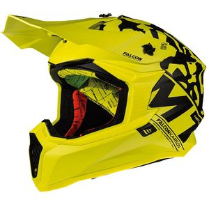 Casque cross FALCON - KARSON F2 - MATT FLUO YELLOW 2019 Matt Fluo Yellow