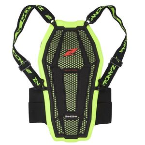Dorsale ESATECH BACK PRO X6 - HIGH VISIBILITY  Black Yellow Fluo