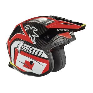 Casque trial ZONE 4 CARBON RED 2019 Rouge