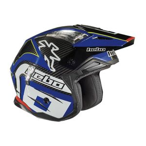 Casque trial ZONE 4 CARBON BLUE 2019 Bleu