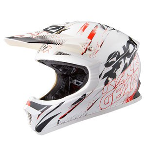 Casque cross FURIOUS CAPTURE BLANC ROUGE  2016 Blanc/Rouge