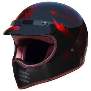 Casque MX - NX - CHROMED  Rouge