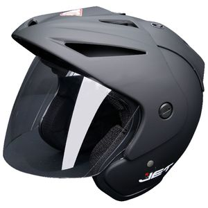 Casque trial JET - BLACK MATT 2019 Noir mat