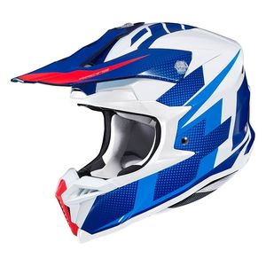 Casque cross I50 - ARGOS - BLUE WHITE RED 2020 Bleu/Blanc/Rouge