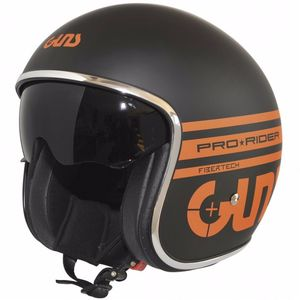 Casque PRO RIDER - MAT  Noir/Orange