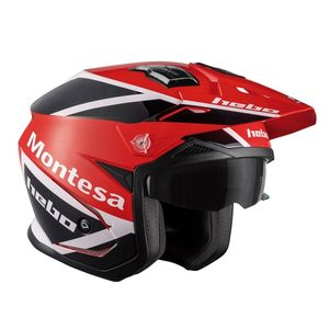 Casque trial ZONE 5 MONTESA CLASSIC 3 2021 Rouge