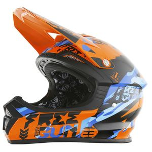 Casque Cross Shot Destockage Xp4 Honor Orange Bleu 2017