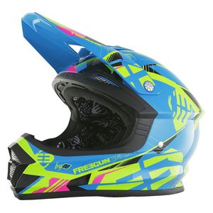 Casque Cross Shot Destockage Xp4 Link Bleu Lime 2017