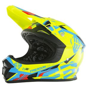 Casque cross XP4 LINK JAUNE BLEU  2017 Jaune/Bleu