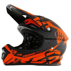 Casque cross XP4 LINK NEON ORANGE MAT  2017 Orange