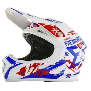 Casque Cross Shot Destockage Xp4 Trooper Bleu Rouge Enfant 2017